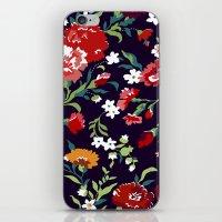 vampire weekend iPhone & iPod Skins featuring VAMPIRE WEEKEND FLORAL VECTOR by Danielle Ebro