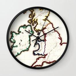 Vintage Map of The British Isles (1860) Wall Clock