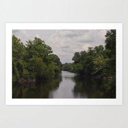 Slow Jungle River Down South Art Print