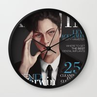 levi Wall Clocks featuring SnK Magazine: Levi by emametlo