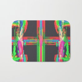 Neon Circuitry Bath Mat