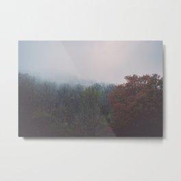 Smoky Mountains in Autumn Metal Print