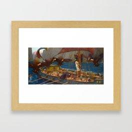 John William Waterhouse Ulysses and the Sirens 1891 Framed Art Print