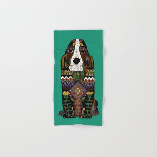 Basset Hound jade Hand & Bath Towel