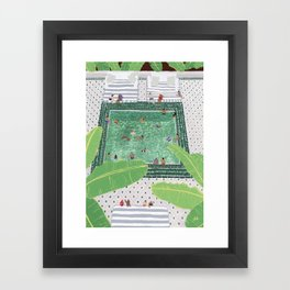 Green Riad Framed Art Print