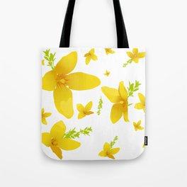 Forsythia flowers Tote Bag