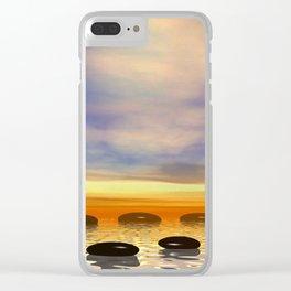 Zen Steine Clear iPhone Case