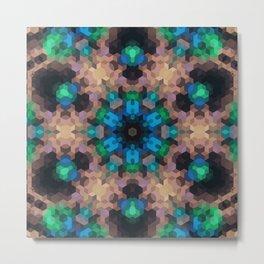 Multi-colored ornament, mosaic Metal Print