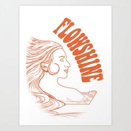 Flowshine: The Mountain Queen Art Print