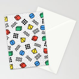 Abstract Memphis Style Pattern Stationery Cards