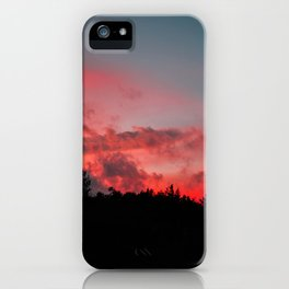 Fire Sunset  iPhone Case