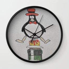 penguin wine stopper Wall Clock