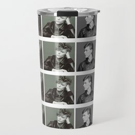 Monochrome Magnificence: Bowie Travel Mug