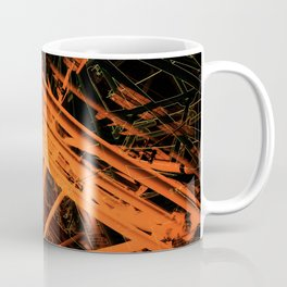 Roof Strut Abstract in Orange Coffee Mug