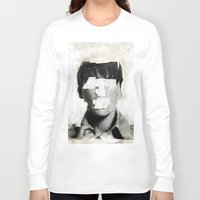 mouth Long Sleeve T-shirts featuring Faceless | number 02 by FAMOUS WHEN DEAD