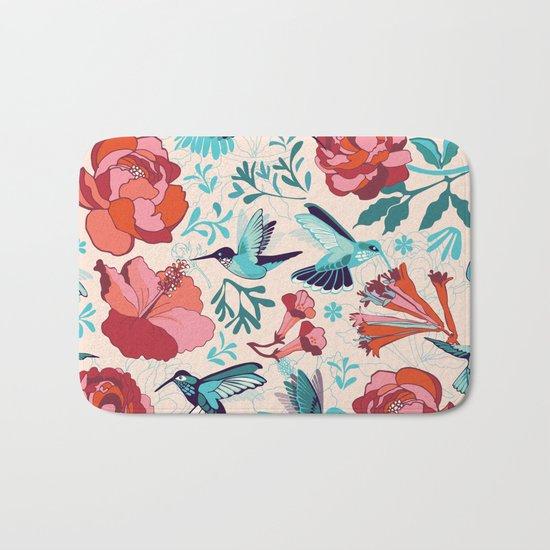 Hummingbird summerdance Bath Mat