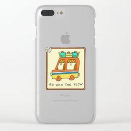 travel van vintage style Clear iPhone Case