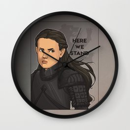Here We Stand Wall Clock