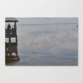 Outerbanks Bay Landscape Scene Canvas Print