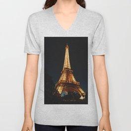 Eiffel Tower, Paris, France. Unisex V-Neck