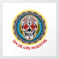day of the dead Art Prints featuring Day of the Dead by Gary Grayson