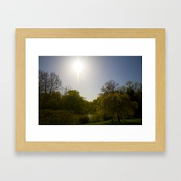 Sunny Day at the Estate Framed Art Print