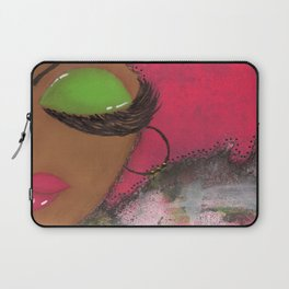 Pink and Green Sassy Girl Laptop Sleeve