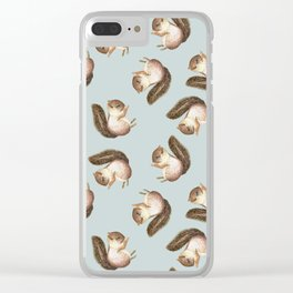 squirrel pattern Clear iPhone Case