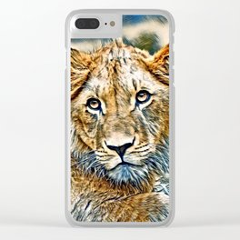AnimalMix_Lion_005_by_JAMColors Clear iPhone Case