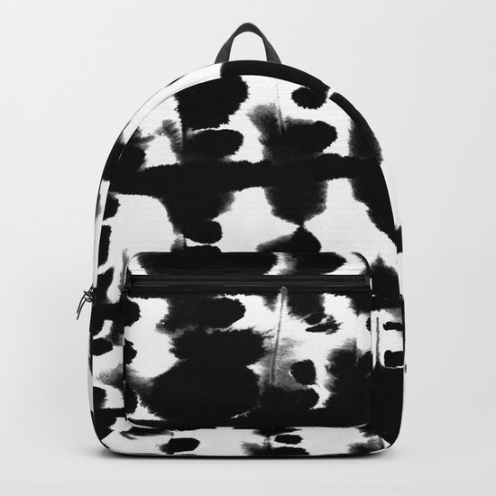 Parallel Black and White Backpack