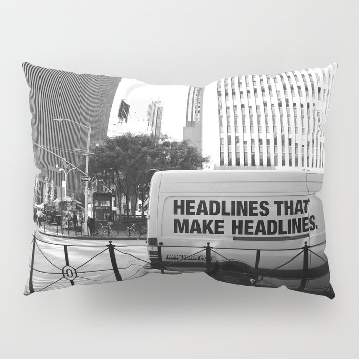 New York Post Truck, Manhattan Pillow Sham