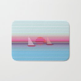 Sailing at sunset Bath Mat
