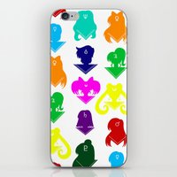 sailormoon iPhone & iPod Skins featuring Sailormoon Senshi pattern by ApocalypseToo Studios