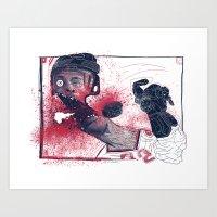 hockey Art Prints featuring Hockey! by Dushan Milic
