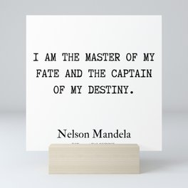 44  | Nelson Mandela  Quotes | 190818 Mini Art Print