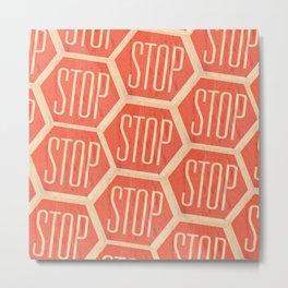 Stop Vintage Metal Print