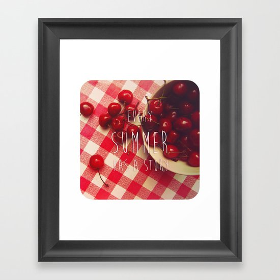 summer stories Framed Art Print
