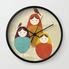 Matriochka Wall Clock