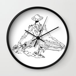Space Cowgirl Wall Clock