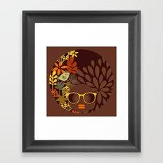 Afro Diva : Sophisticated Lady Retro Brown Framed Art Print