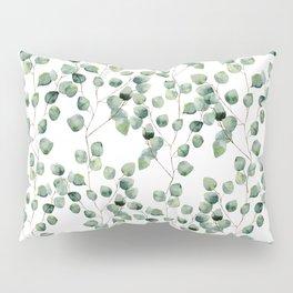 Watercolor eucalyptus silver dollar Pillow Sham