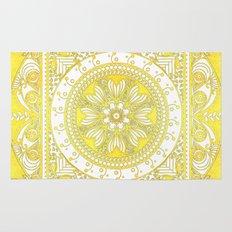 Golden Henna Mandala Rug