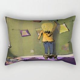 young girl artist Rectangular Pillow