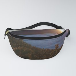 Sunset Canary Islands forest and Volcano Teide in Tenerife Fanny Pack