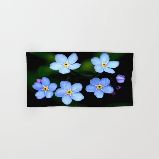 Tiny Blue Flowers Hand & Bath Towel