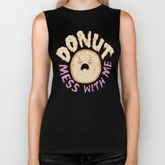 Donut Mess With Me Biker Tank