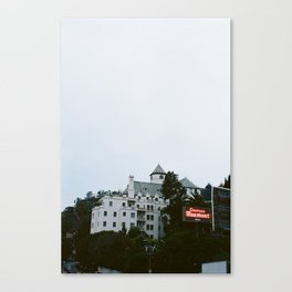 Looming Chateau Marmont Canvas Print