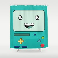 bmo Shower Curtains featuring BMO by Kezarah