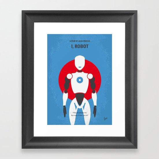 No275 My I ROBOT minimal movie poster Framed Art Print