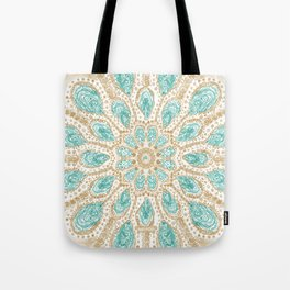 MMMOYSTERS Gold-Rimmed Oyster Mandala Tote Bag